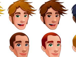 obličeje a druhy vlasů