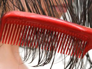mokré vlasy