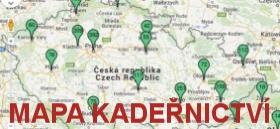 mapa ČR a SK kadeřnictví