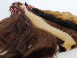 evropské vlasy v různých barvách přírodní