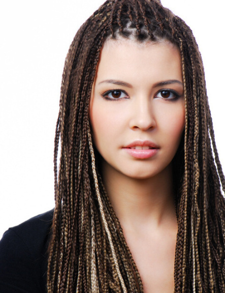 pretty young woman with dreadlocks